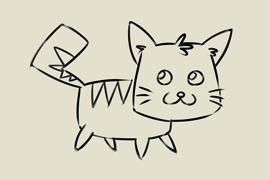 мультяшный котенок шаг 7