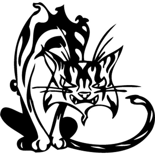 Эскиз тату кошки